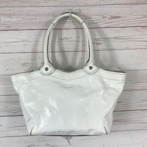 Coach Patent Leather Lg Bleeker Carryall Tote Bag